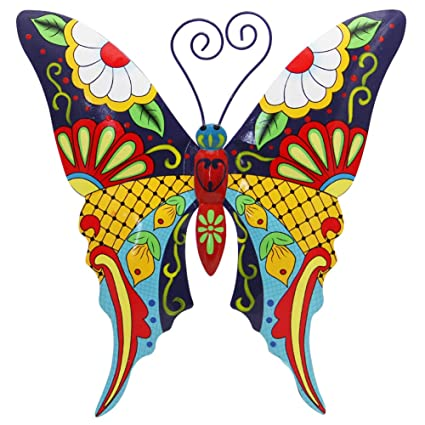 Juegoal Metal Wall Art Inspirational Butterfly Wall Decor Sculpture Hang Indoor Outdoor For Home Bedroom Living Room Office Garden Butterfly