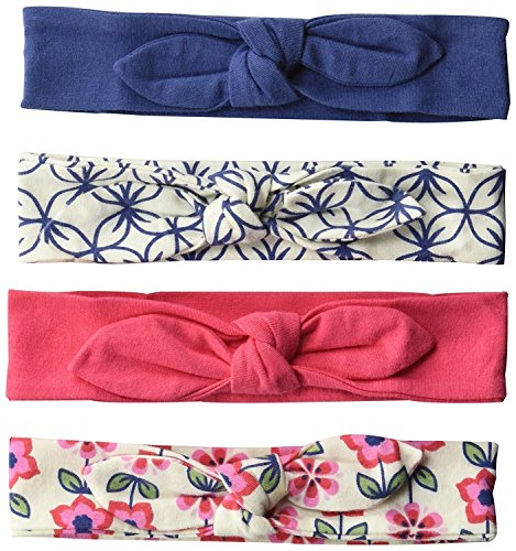Touched by Nature Baby 4-Pack Organic Cotton Headbands, Flower, 0-24 Months (100 Percent Cloths)