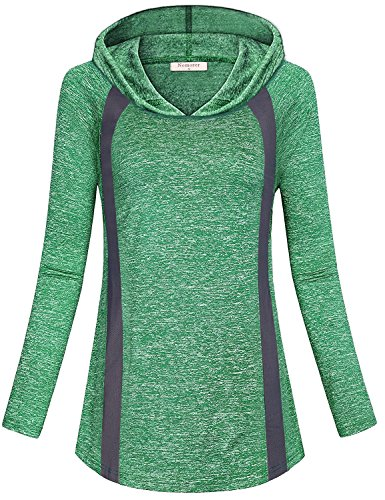 Nomorer Activewear Tops for Women, Office Ladies Gifts Shirts Running Athleisure Hoodys for Women T-Shirt Fashion Clothes for Going Out Blouses Knitted Wear (Green, M) by Nomorer