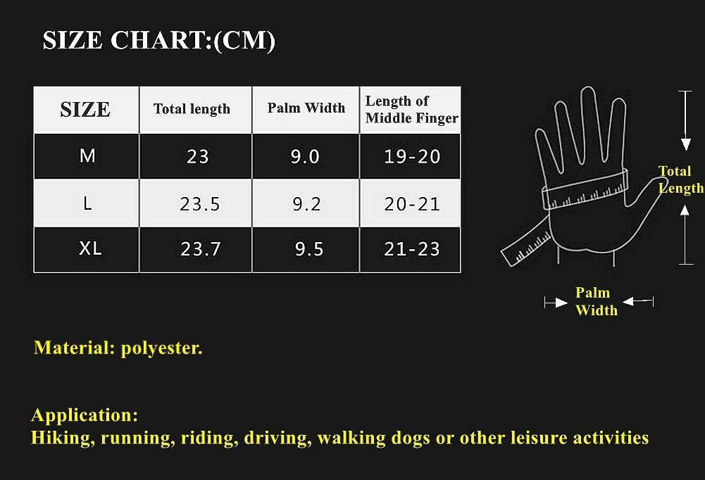 INIBUD Winter Gloves for Men and Women Touchscreen Windproof Thermal Liner Gloves Running Outdoor Cycling Driving Gloves M