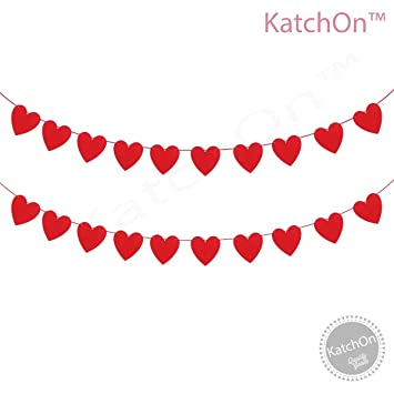 Felt Heart Garland Banner   NO DIY   Valentines Day Banner Decor  Valentines  Decorations