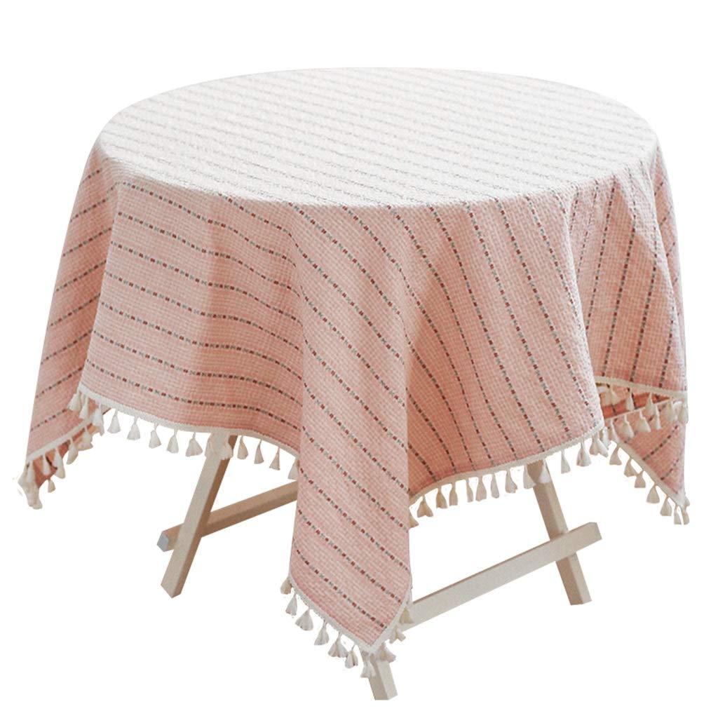 140140cm ZHPBHD Style Japonais Petit Bureau Frais Coiffeuse Nappe Nappe Salon Table Basse Nappe rectangulaire Nappe Ronde (Taille   100  140cm)