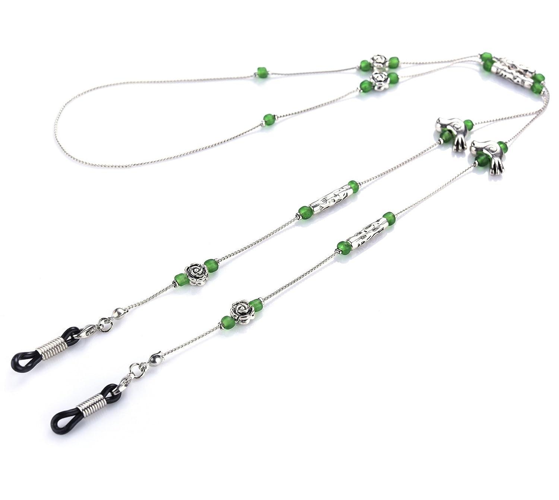 Kalevel Glasses Chain Beaded Eyeglass Holder Strap Sunglass Lanyard for Women