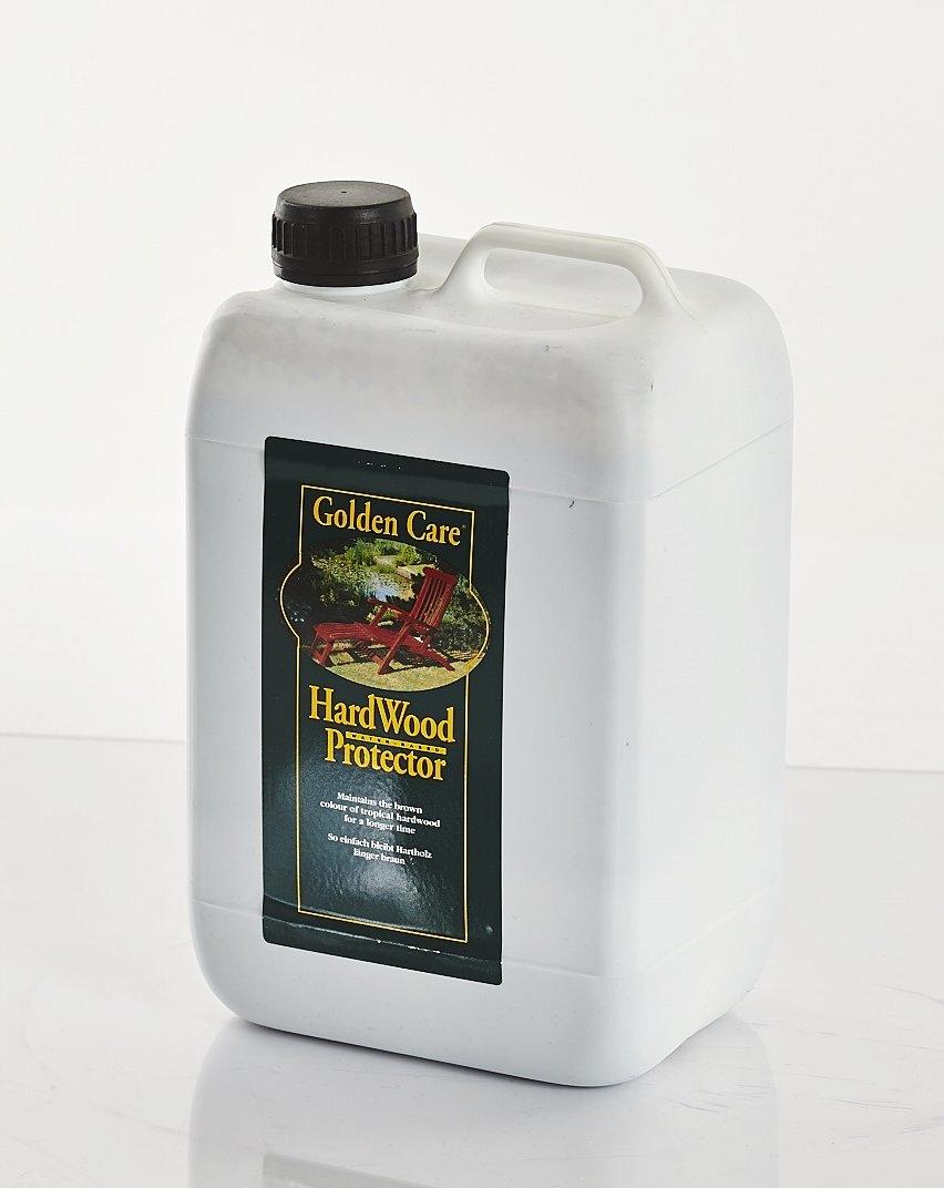 GOLDEN CARE Hardwood Protector 3 Liter pflegt Hartholz z.B. Eukalyptus und Akazienholz oder auch Teak Holzschutz Holzpflege für Gartenmöbel