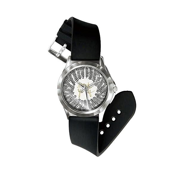 Bluelans Vintage diseño de letra de hojas imprimir Dial analógico cuarzo unisex reloj de pulsera: Amazon.es: Relojes