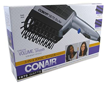 Amazon.com: Conair SD6X, 1875-Watt, 3-in-1 Ionic Styler with 3 Attachments (Pack of 6): Beauty