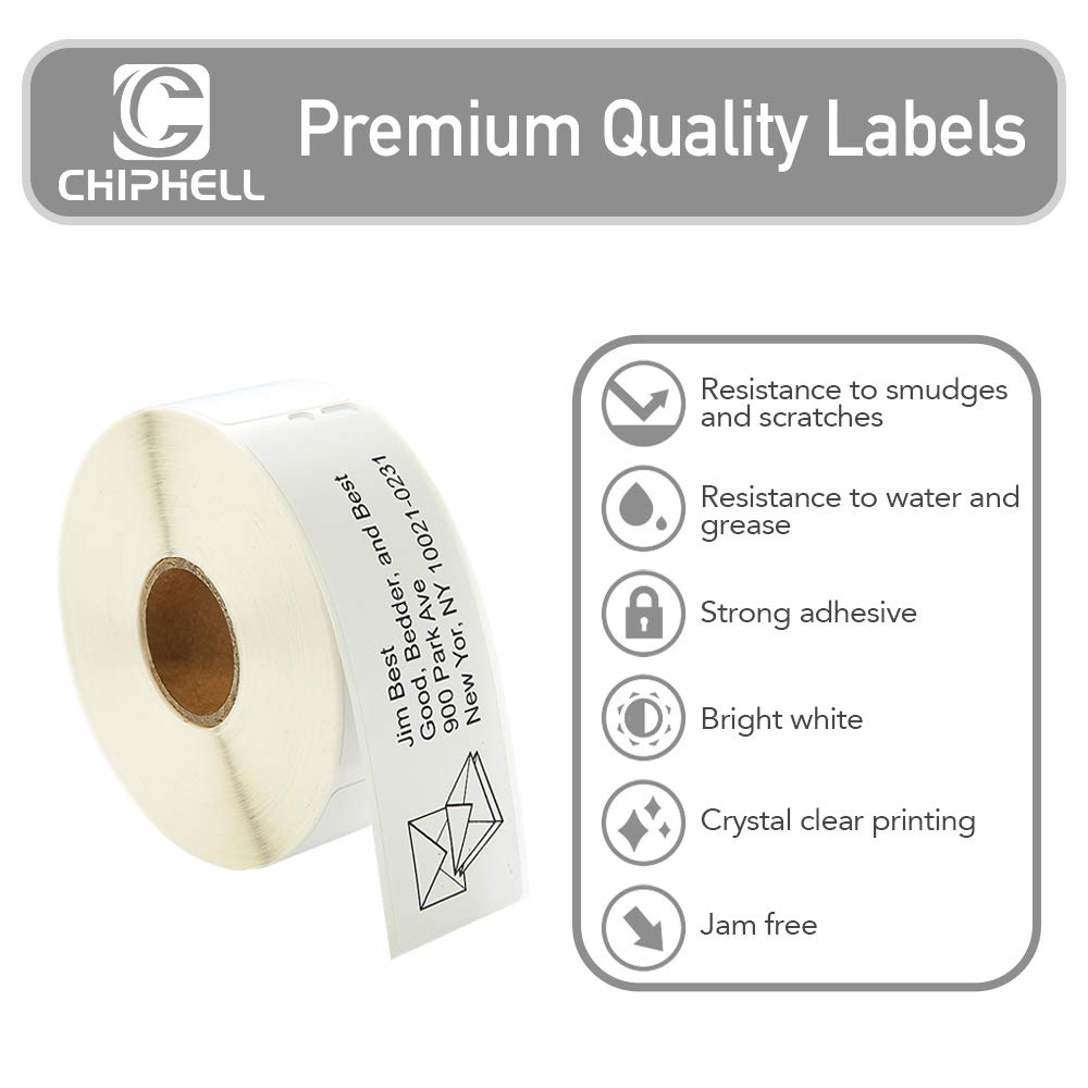 28mm×89mm 450 Turbo Adhesive White Address Labels for Dymo