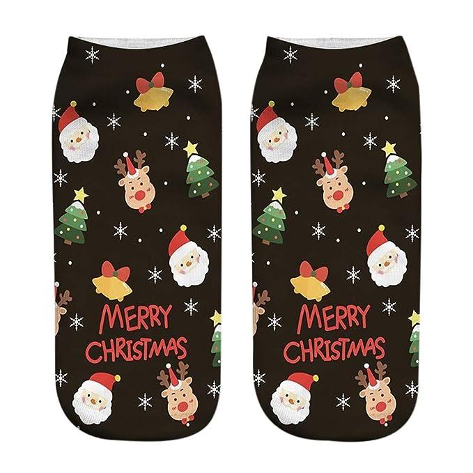 BBsmile Navidad calcetín lindo-Unisexo Navidad gracioso Moda 3D Impreso Calcetines casuales Calcetines de tobillo lindos de corte bajo: Amazon.es: Ropa y ...