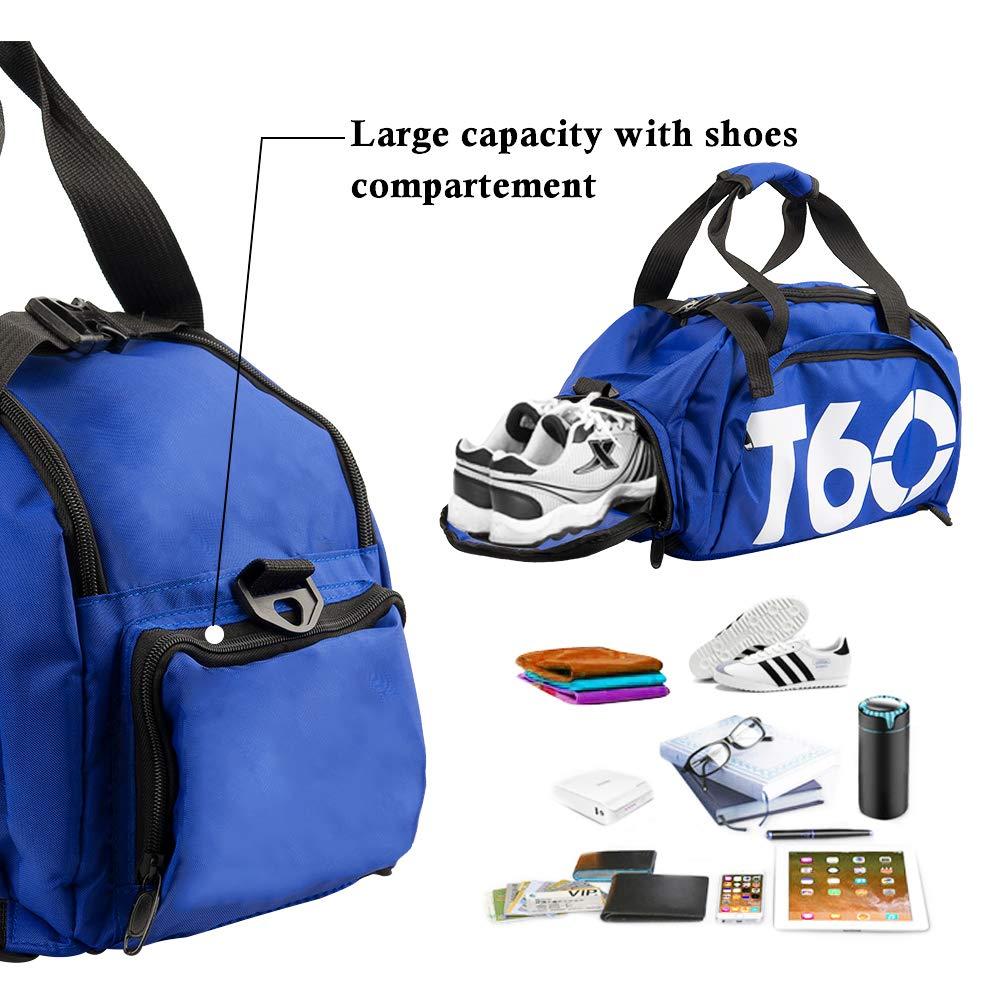 6ede0d744d Obling 35L Cabas Sac de Sport avec Poche de Chaussures Sac à Dos  Gymnastique Unisexe Large Capacité (Bleu avec Blanc): Amazon.fr: Sports et  Loisirs