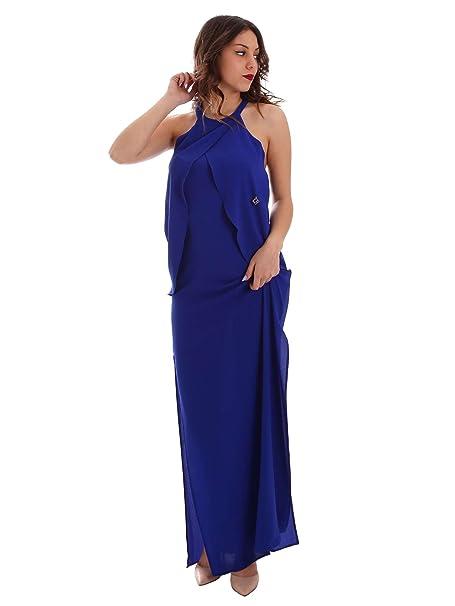 62834c20a677 Gaudi abito da sera o cerimonia lungo blu cobalto (44)  Amazon.it ...