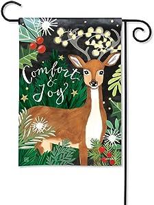 BreezeArt Studio M Comfort and Joy Decorative Garden Flag – Premium Quality, 12.5 x 18 Inches