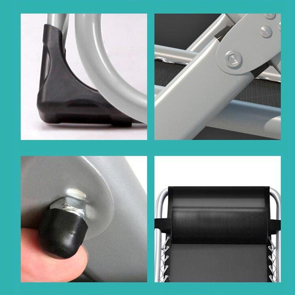 QIDI Sedia A Sdraio Pieghevole in Metallo per Esterni 60 Colore : Style 1 75 80cm