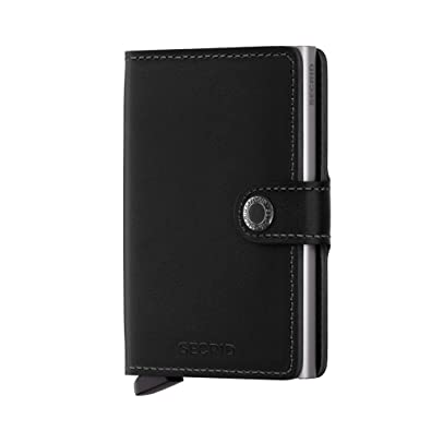 Secrid mini wallet genuine black leather with RFID protection / with one  click all cards slide