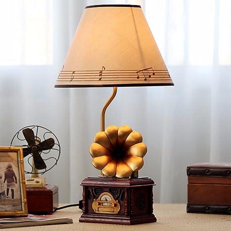 SJQKA-El fonógrafo, lámpara de mesa creativos, nuevas ...