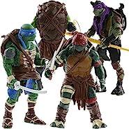 Teenage Mutant Ninja Turtles Movie Action Figure, 4 Pieces, 5-inch