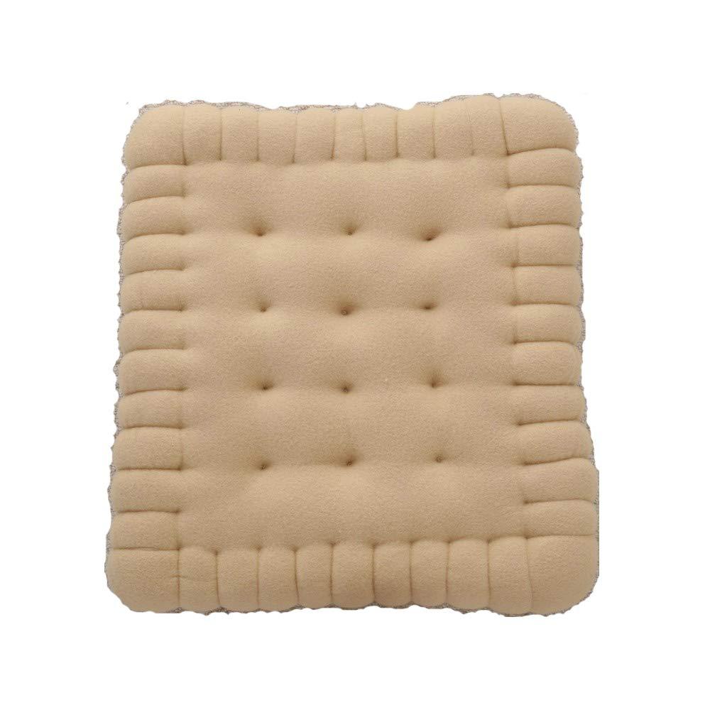 JWR Kissen handgefertigt Keks Kissen Kissen Stuhl Autositz dekorative Rückenpolster Sofa Heimtextilien,Natural,50  60cm