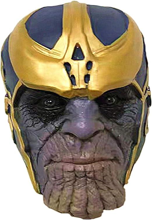QQWE Máscara De Thanos Los Vengadores De Marvel Máscara Cosplay ...