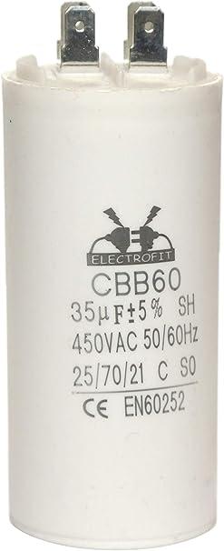 Imagen deCondensador del motor 450V 35uF CBB60