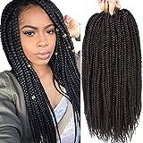 VRHOT 6Packs 18'' Box Braids Crochet Hair Small Synthetic Hair Extensions Dreadlocks Twist