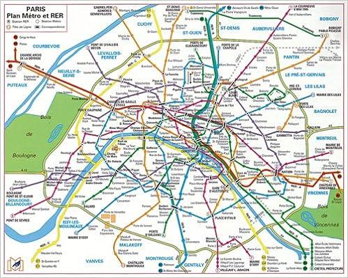En ligne téléchargement gratuit Plan de ville : Métro Rer Bus (plastifié) pdf
