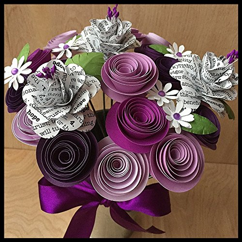 Purple Ribbon Pancreatic Cancer Wish Flower Arrangement