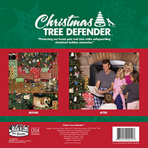 amazoncom christmas tree defender potted plant protector 48 inch green pet supplies
