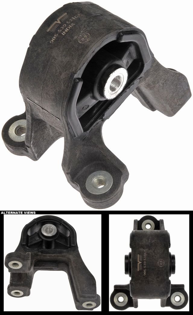 APDTY 118867 Rear Differential Rubber Insulator Mount Bracket Fits 2002-2011 Honda CRV or 2003-2011 Honda Element (Replaces Honda 50721-S5C-013, 50721S5C013)