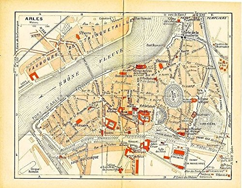 Amazon arles france 1943 world war ii lithograph city street arles france 1943 world war ii lithograph city street plan map gumiabroncs Images