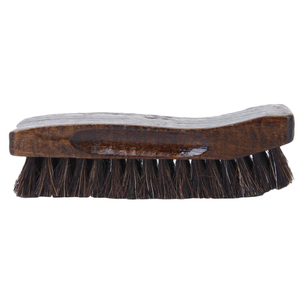 Wooden Boat Brushes Bristle Horse Hair Shoe Polish Applicator Polish Dauber Boot Buffing Generic STK0115010920