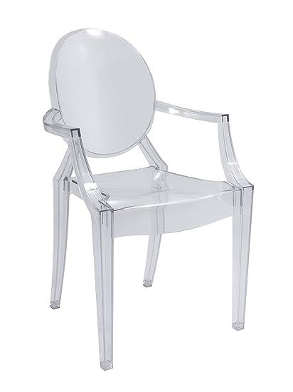 Sedie Trasparenti Con Braccioli.Sedia Design Con Braccioli In Policarbonato Trasparente Stile