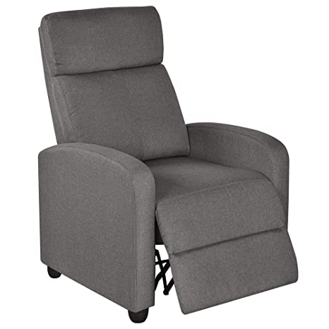 Surprising Yaheetech Fabric Recliner Sofa Modern Single Recliner Sofa Home Theater Seating With Thick Seat Cushion Backrest And Pocket Spring Gray Frankydiablos Diy Chair Ideas Frankydiabloscom
