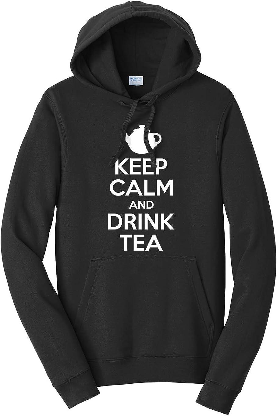 Tenacitee Unisex Keep Calm and Drink Tea Hooded Sweatshirt