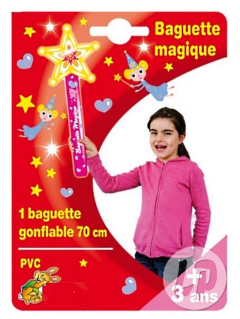 GRANDE BAGUETTE MAGIQUE ETOILE GONFLABLE 55 CM SCEPTRE PRINCESSE JOUET PVC kim play 3225430129030