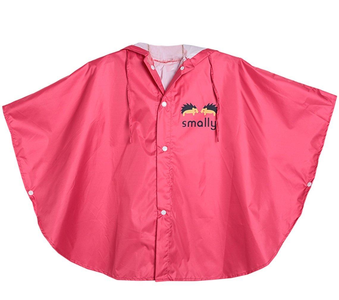 GudeHome Unisex bambino Impermeabile Bambina Bambino di pioggia incappucciati impermeabile Poncho, 80-100cm Giallo Gude Trading Co. Ltd