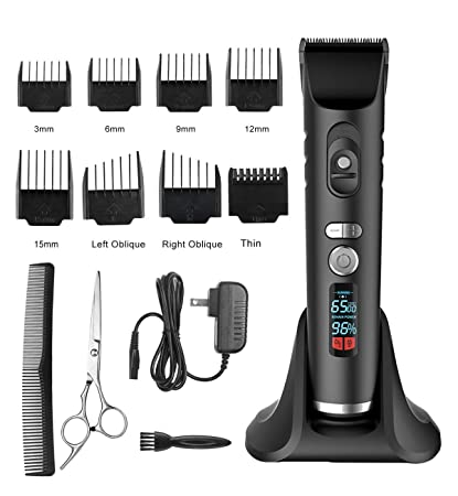 Amazon Com Hair Clippers Hair Trimmers Cordless For Men Pro Haircut