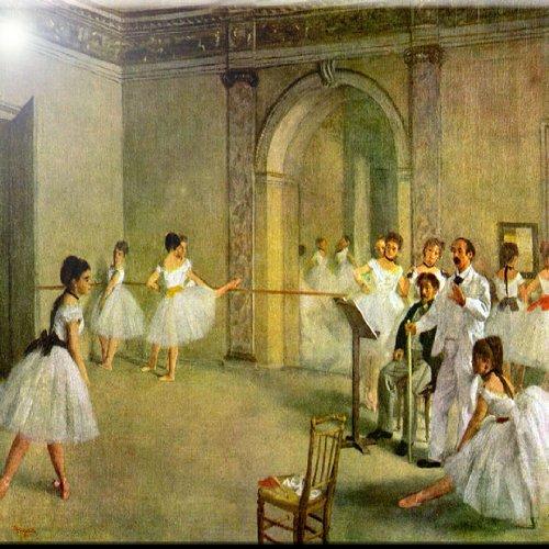 Rikki Knight 12 x 12 Edgar Degas Hall of The Opera Ballet Design Ceramic Art Tile
