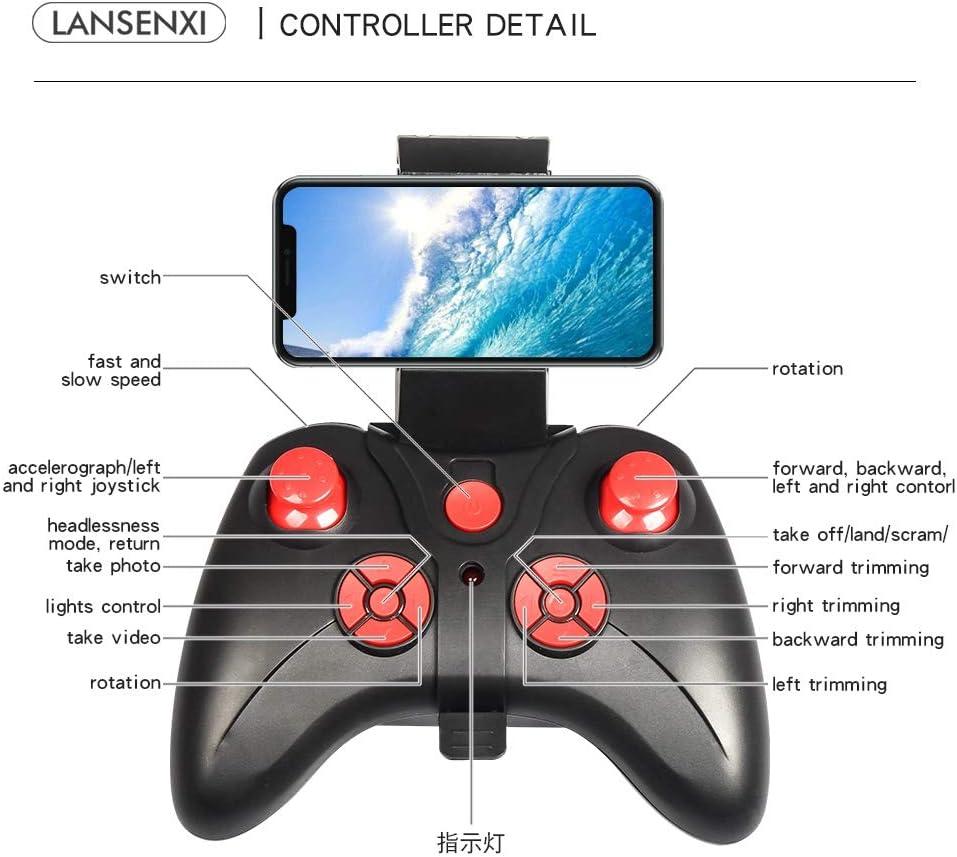 YSYYSH Black 500W-pixel high-Definition Aerial Key Return a Headless Mode Easy Recall Mini Drone