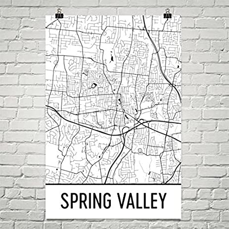 Amazoncom Spring Valley NY Map Spring Valley Art Spring Valley
