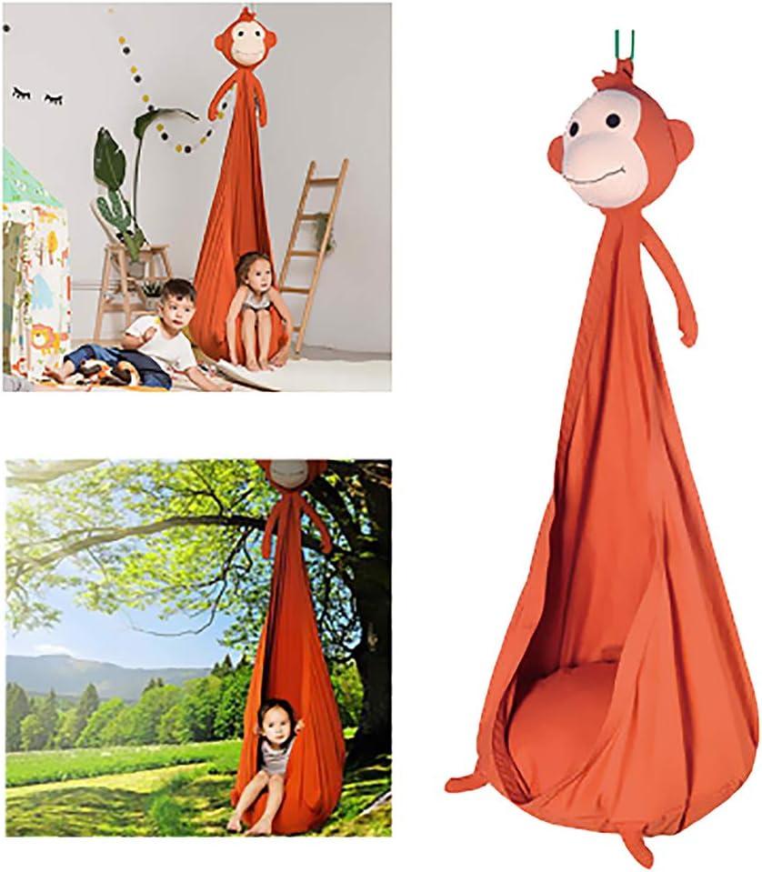 ZEIYUQI Hammock Swing Chair Indoor Teen Room Decor for Girls Bedroom Cartoon Hanging Basket Chair,Monkey,70 120cm