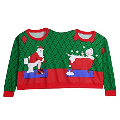 09f394c657f Couples 3D Christmas Sweatshirt Family Long Sleeve