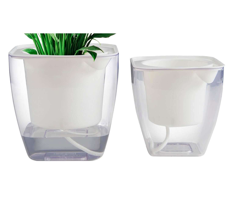 Flower pots indoor or Outdoor, Succulent Pots, Self Watering Planter, Self Watering Pot 5 4.3 M S 2PCS PACK