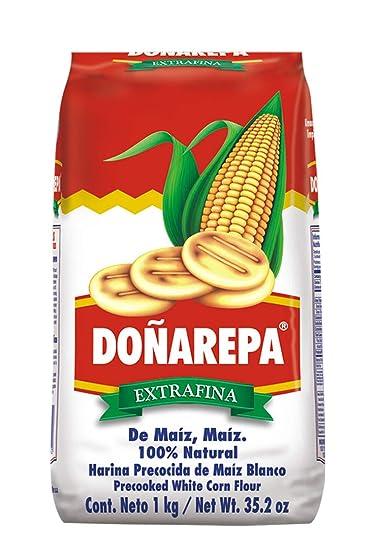 Doña Arepa, Harina Blanca De Maiz Doña AREPA y Harina Amarilla de Maiz Doña AREPA