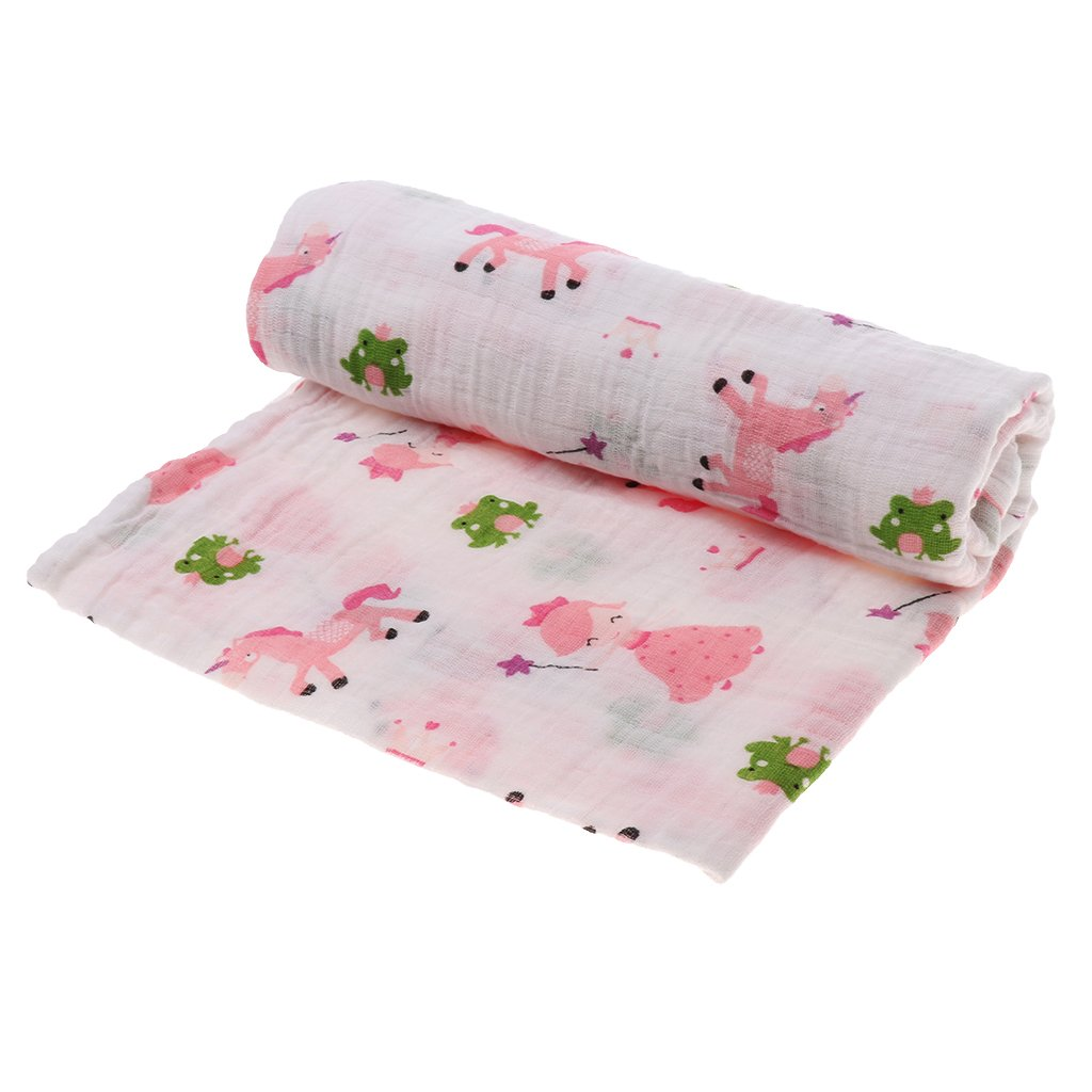 Baoblaze Summer Infant SwaddleMe Swaddle Me Baby Newborn Swaddling Blanket 110*110cm - Fox Fawn