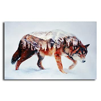 Amazon Com Orlco Art Hd Printing Wolf And Forest Airbrush