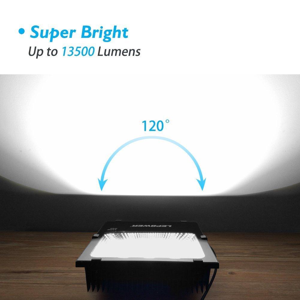 LEPOWER 2 Pack 150W New Craft LED Flood Light, Super Bright Outdoor Work Light, 750W Halogen Bulb Equivalent, IP66 Waterproof, 11000lm, 6500K, Led Flood Light Outdoor(150W White Light) by LEPOWER (Image #1)