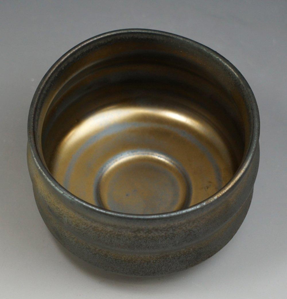 Yamakiikai Japanese Tea cup Matcha Bowl Brown Ibushi pattern made by 高瀬 F1728 from Japan Takase