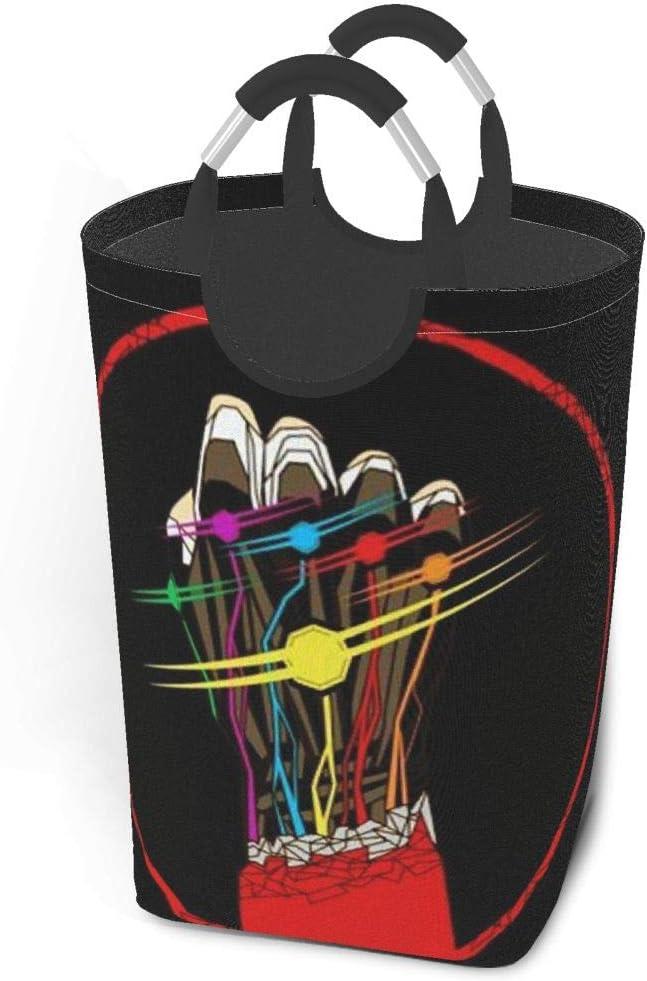 KSHGZH Laundry Basket Collapsible Laundry Hamper - Iron Man Power Clothes Bag Storage Basket, Folding Washing Bin 50l