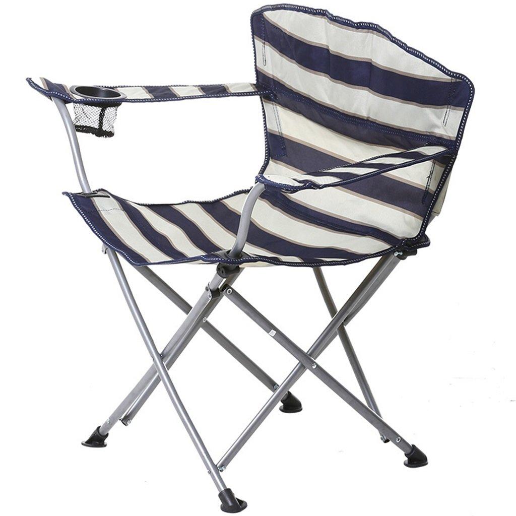 ベンチ 屋外キャンピングチェアポータブルレジャー釣りピクニック防水折りたたみチェア (A++) (色 : Stripes) B07DB64WQN Stripes Stripes