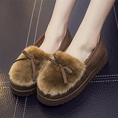 Winter Warme Bogen Tasche Baumwolle Schuhe Dicke Anti-Rutsch-Monat Schuhe Innen Baumwolle Hausschuhe,E,37