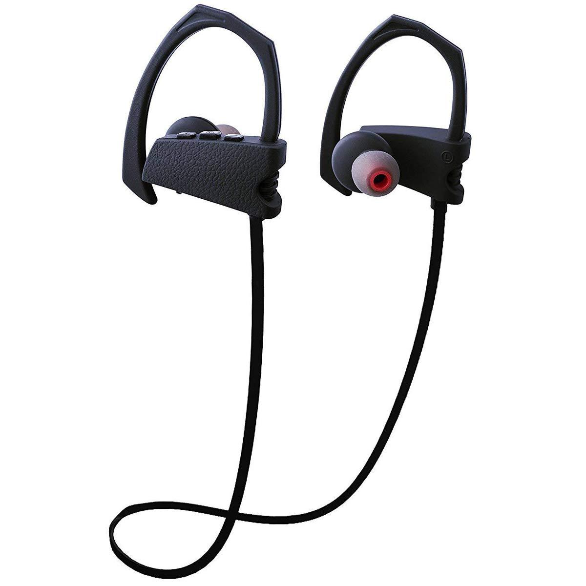Bluetoothヘッドホン プロフェッショナルワイヤレスイヤホン スポーツイヤホン ステレオ 防水 IPX6 ヘッドセット ノイズキャンセリング マイク付き 音声プロンプトフィット iPhone/Androidスマートフォン ジム ランニング ワークアウト用 B07L6Y9CVK